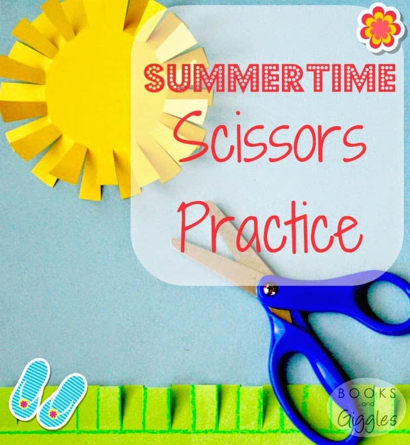 Learning to use scissors takes practice! This is an easy prep cutting project for toddlers and preschoolers
