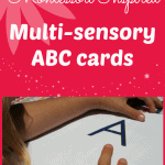 ABC Cards: Montessori Inspired Multisensory Learning
