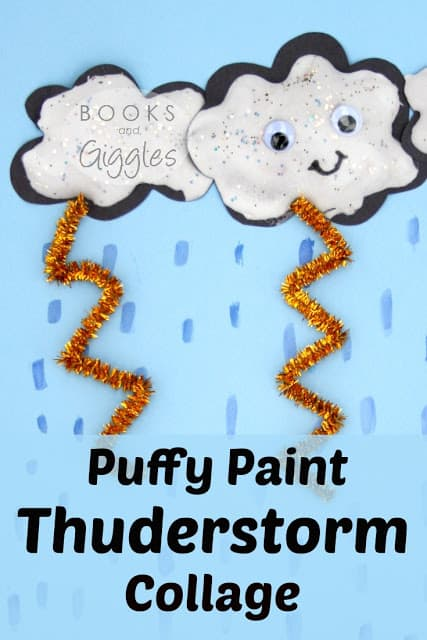 Kids Thunderstorm Craft Activity to go with Picture Books about Storms