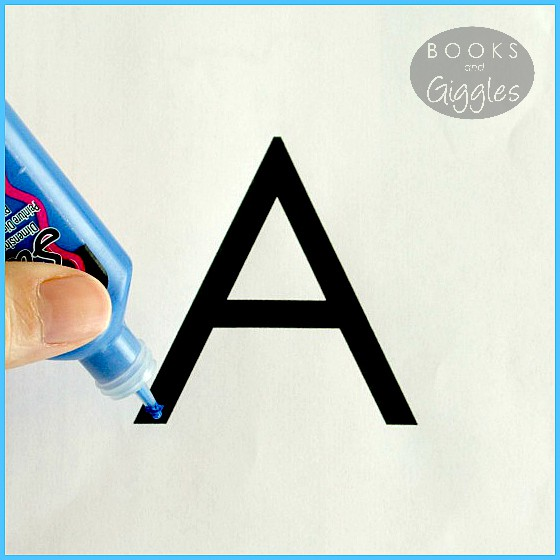 A Montessori inspired,simple alternative to sandpaper letters - a multi-sensory way to learn ABCs.