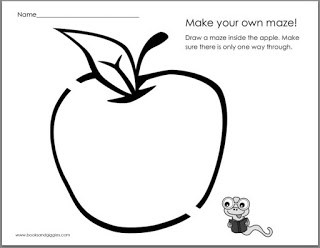 3 printable back-to-school themed frames for kids to draw mazes in