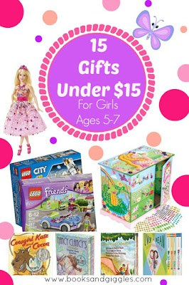 15 Gifts under $15: Perfect Ideas for Girls ages 5, 6, and 7. List of toy and non-toy suggestions for birthday presents, Christmas, or any occasion.