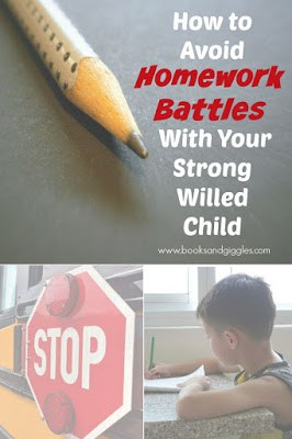 How to Avoid Homework Battles With Your Strong-Willed Child - tips from a teacher & mom who's been there