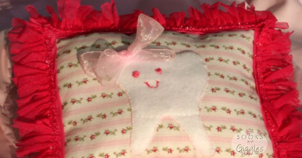 9 Easy Steps to a Glamorous Tooth Fairy Pillow - how to get sparkling results with limited skills. Includes free template.
