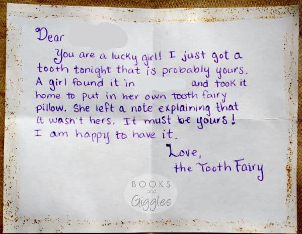 What Happens When You Lose a Lost Tooth? The Tooth Fairy's perfect response