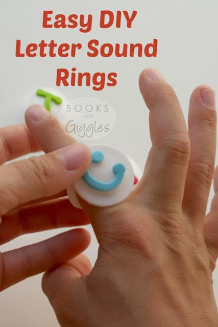 Upcycled ABC rings! A multi-sensory way to practice letters, letter sounds, and simple words. Perfect for visual and tactile kinesthetic learners.