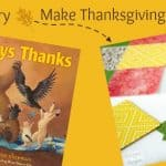 Read a Story, Make Place Mats for Thanksgiving