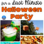 Halloween party ideas collage