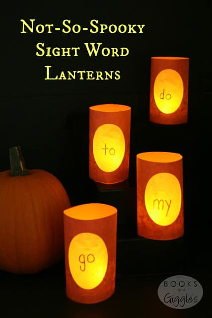 Halloween sight word activities! Instructions and activities for learning sight words with fun paper lanterns.