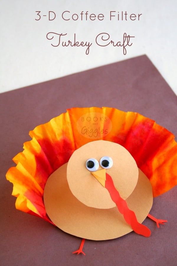 Thanksgiving 3 d turkey craft for kids for Thankful crafts for kids