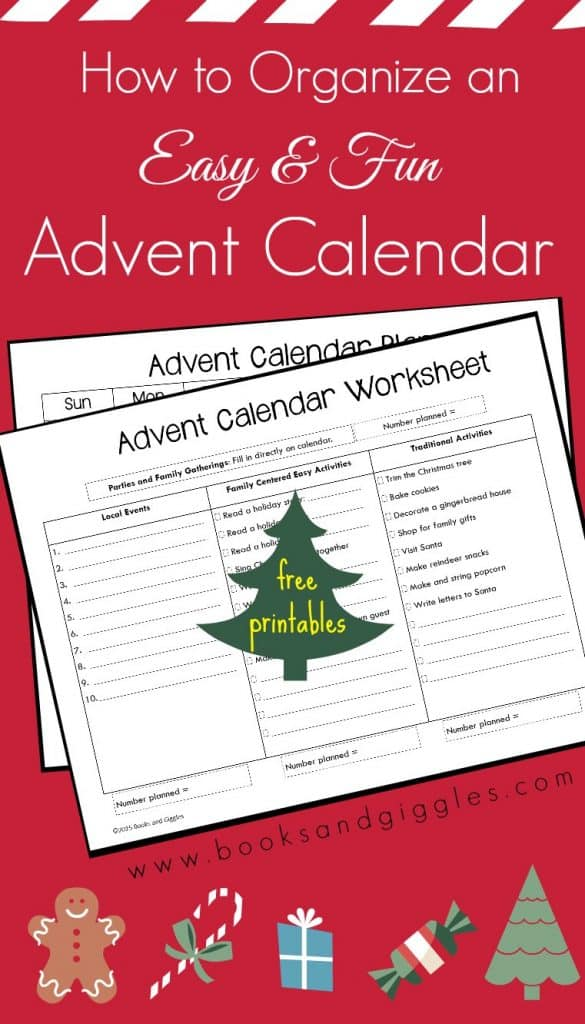 How to plan Advent calendar activities for kids. Includes suggested activities plus space to write in your own. There's also a 3-page free printable organizer.