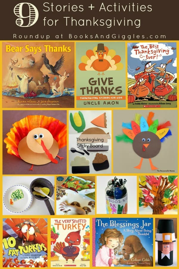 9 Story-time Activities to do this Thanksgiving - crafts, learning activities, and picture books for toddlers, preschoolers, kindergarten and early elementary kids