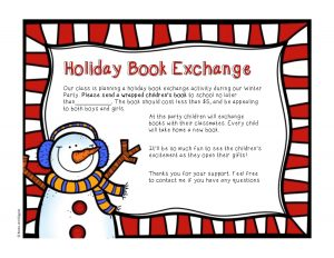book exchange party invitation