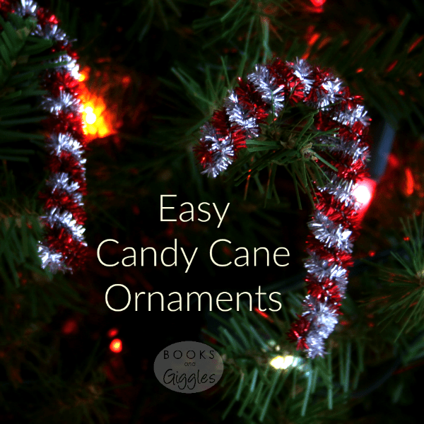 Fancier but still easy version of the traditional pipe cleaner candy cane ornament. Lots of fun and good fine motor practice for preschoolers.