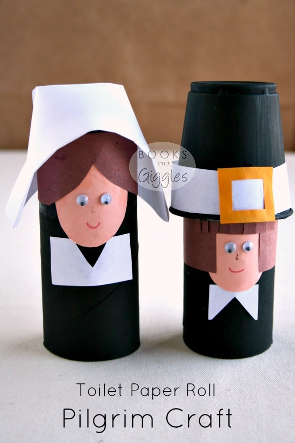 Simple toilet paper roll pilgrims and a story of the first for Toilet paper roll crafts thanksgiving