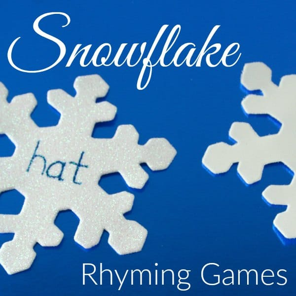 Prepare one simple set of materials and play 5 different rhyming games. Kindergartners learning to read will have fun with these snow themed literacy activities.