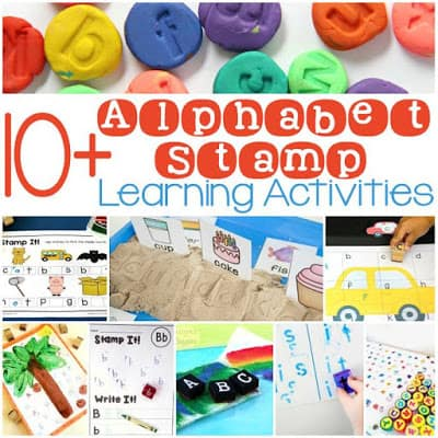 Alphabet stamp learning activities - preschool, kindergarten, and early elementary ideas