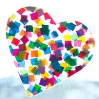 Suncatcher Mosaic suncatcher from kidscraftroom.com