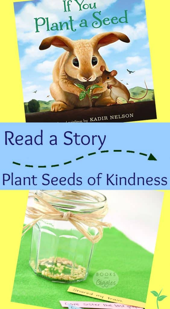 A simple activity to go along with the book If You Plant a Seed by Kadir Nelson. Helps teach and reinforces kindness with preschoolers and even toddlers.