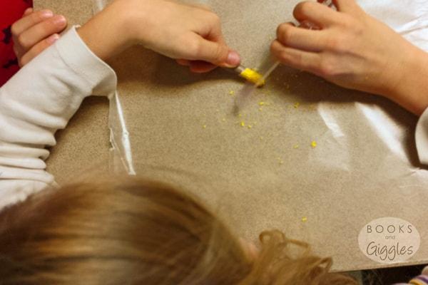 shaving crayons