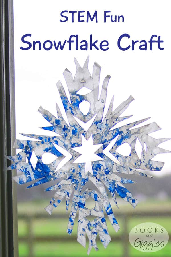 How to make a colorful snowflake craft, learn some science (states of matter and symmetry), and practice fine motor skills.