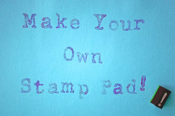 How to make your own washable stamp pad for kids, plus learning activities to do with letter stamps.