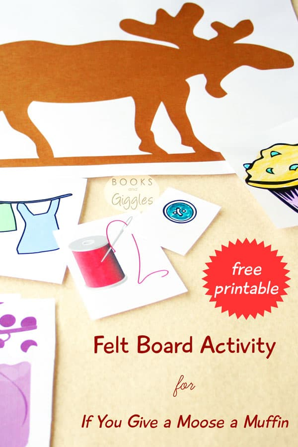 Book extension activities | Free printable clip-art and suggested activities to go along with the children's story If You Give a Moose a Muffin.