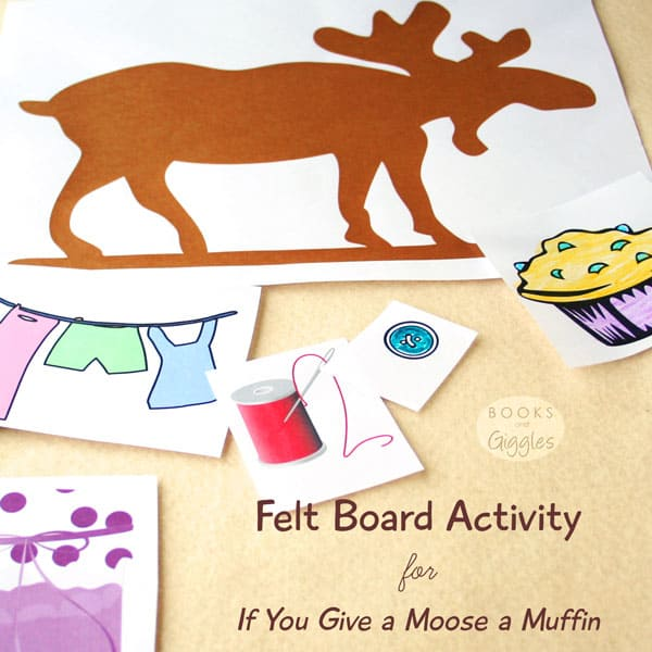 Printable free clipartand suggested activities to go along with the children's story If You Give a Moose a Muffin.