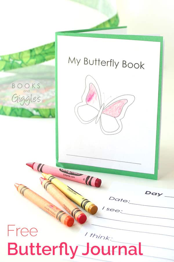 Butterfly Activities for Kids | How one family raised caterpillars and released butterflies. Free printable butterfly journal for preschool or kindergarten aged kids. Also includes links to loads of other butterfly crafts, STEM activities, and more.