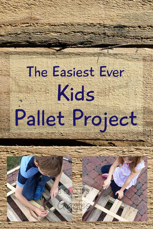 A simple kids' activity using an old pallet. This simple, inexpensive idea gives kids experience using a hammer and saw. Also discusses a recommended storybook.