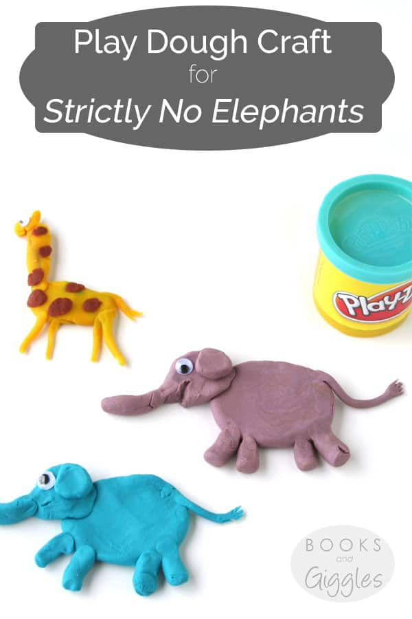 Book extension activities, friendship   A craft with play dough for the picture book Strictly No Elephants.