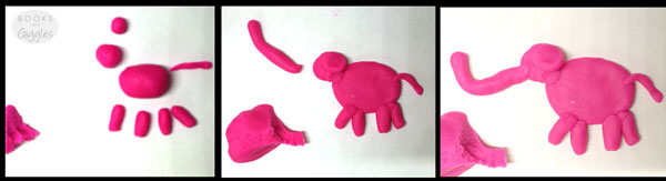 play dough elephant