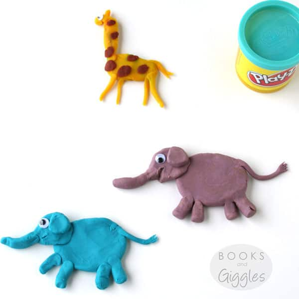 Book extension activities, friendship | A craft with play dough for the picture book Strictly No Elephants.