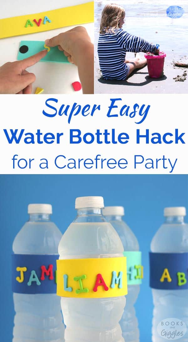 This water bottle hack for kids parties makes it easier to keep track of everyone's bottle. No more confusion!