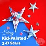 Shiny Kid-Painted 3-D Stars for Toddlers and Preschoolers