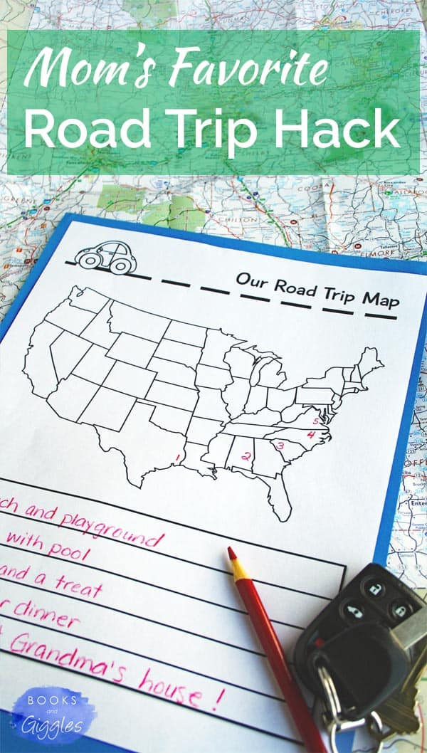 "This simple road trip hack helps kids understand what to expect on a road trip. No more ""are we there yet?"" whining!"