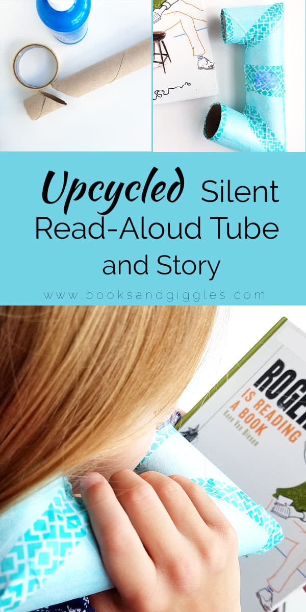 Help kids read aloud quietly with this upcycled paper towel roll that they can whisper into and hear themselves read. {Free reading tube template}