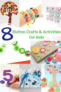 8 button crafts & activities for kids