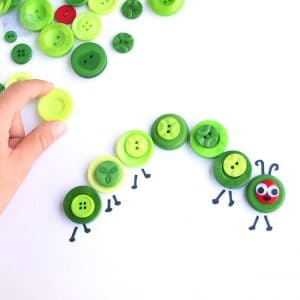 caterpillar-button-craft-for-kids