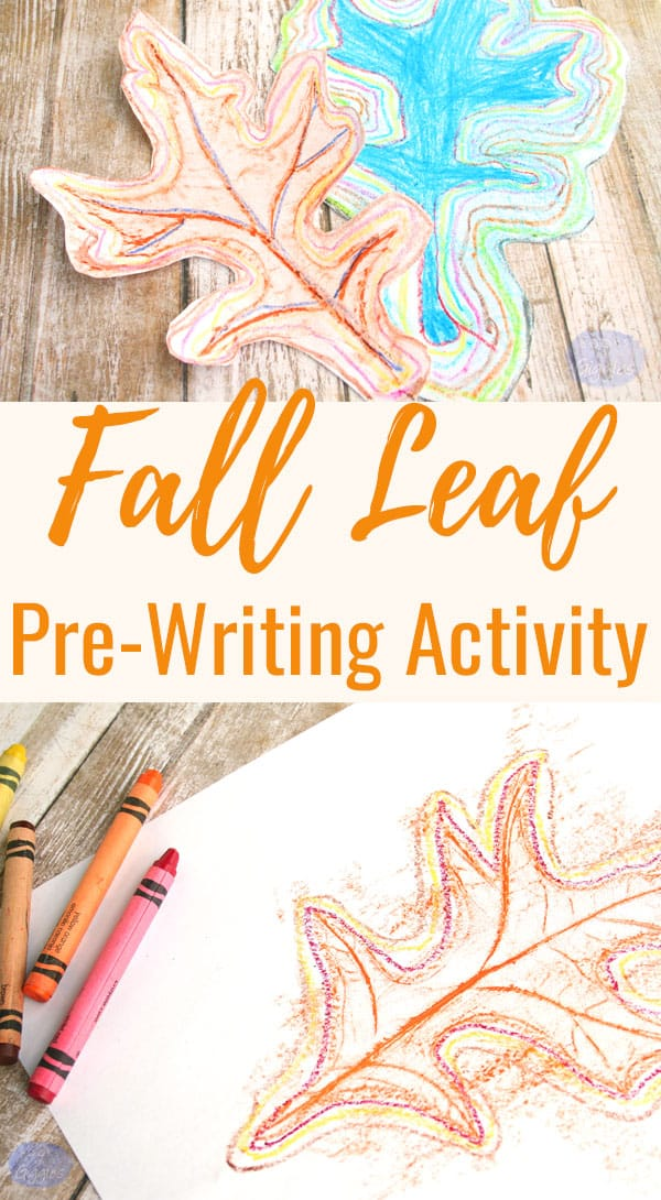 This fall fine motor skill activity is a beautiful and fun way to work on pre-writing skills at home or preschool.