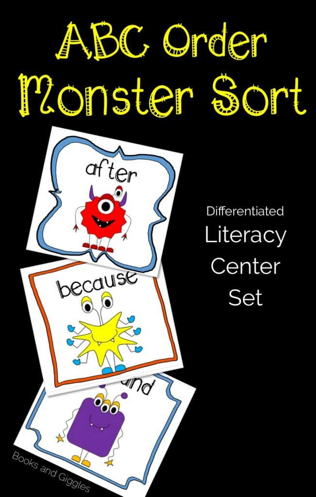10 monster themed learning activities, including this fun ABC Sort.