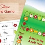 Apple Theme Sight Word Game {Free Printable}