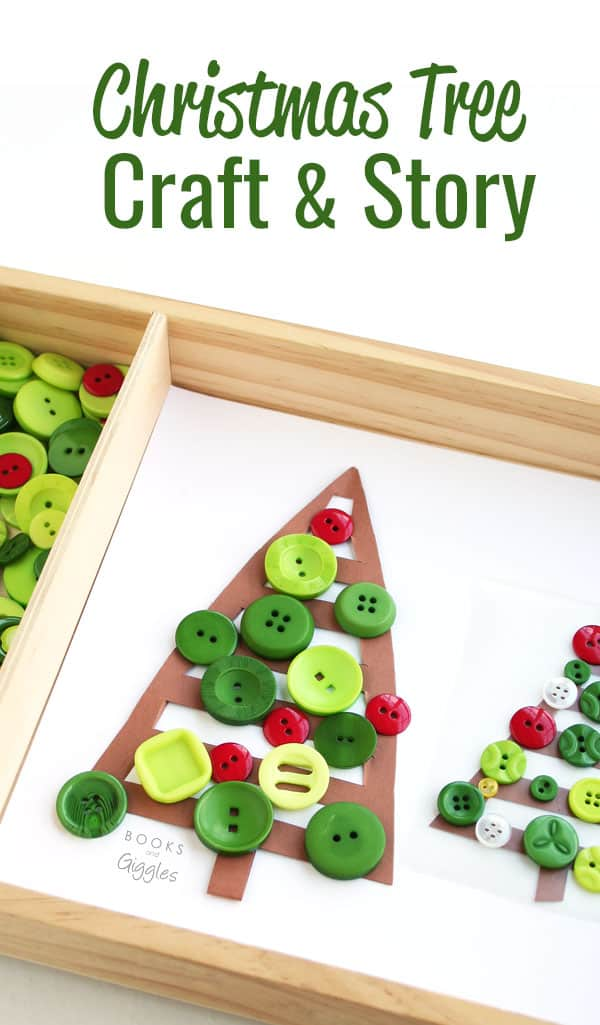 Christmas craft for kids to make and book extension activity for Maple & Willow's Christmas tree -- all in one. Or you can set it up as a Christmas tree themed invitation to play .