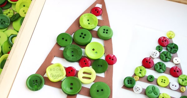Christmas craft for kids to make and book extension activity all in one. Or you can set it up as a Christmas tree themed invitation to play .