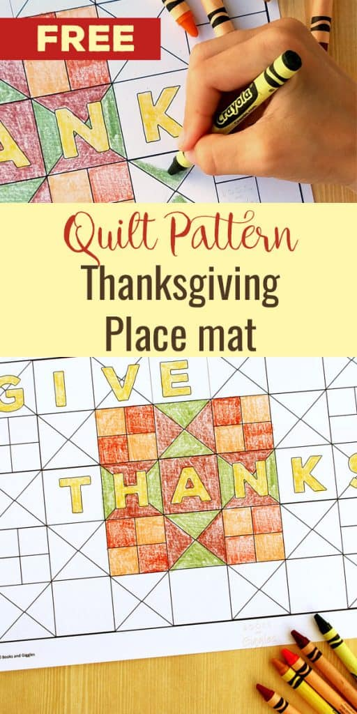 A printable Thanksgiving place mat inspired by a fun children's book: The Bear Gives Thanks. This is a great color page activity for Thanksgiving morning or during the meal!