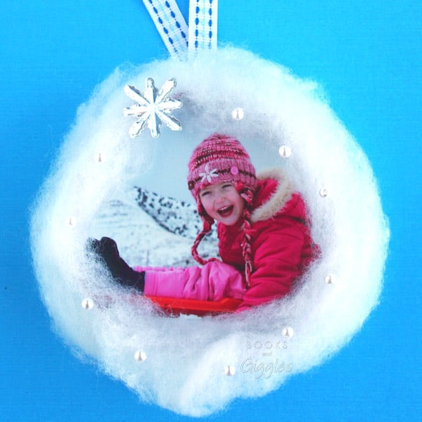 Kids Christmas photo ornament