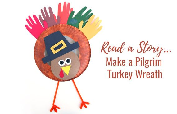 A pilgrim turkey craft for preschoolers learning about the first Thanksgiving.