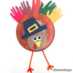 A pilgrim turkey craft with a story behind it - fun Thanksgiving activity for preschoolers!