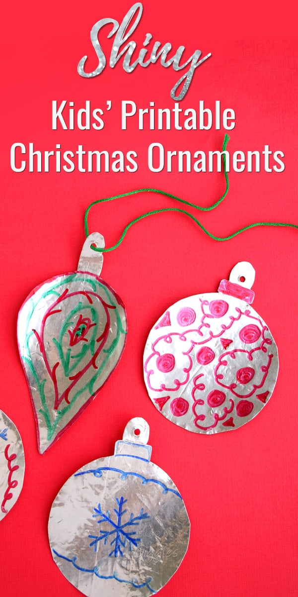 christmas ornaments printable foil