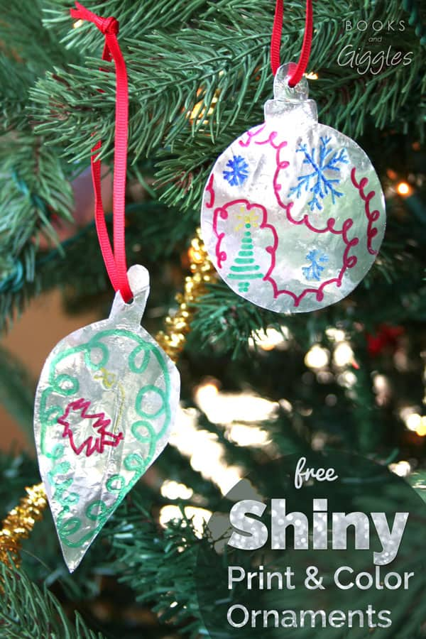 Shiny Kids Printable Christmas Ornament Craft
